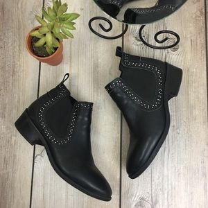 Steve Madden Leather Studded Dicey Booties